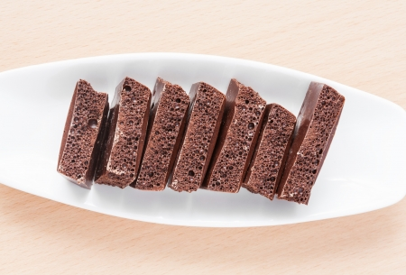 porous chocolate on a plate Stock Photo - 18846508