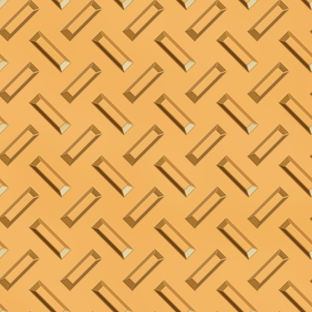 pitted: gold diamond plate Stock Photo
