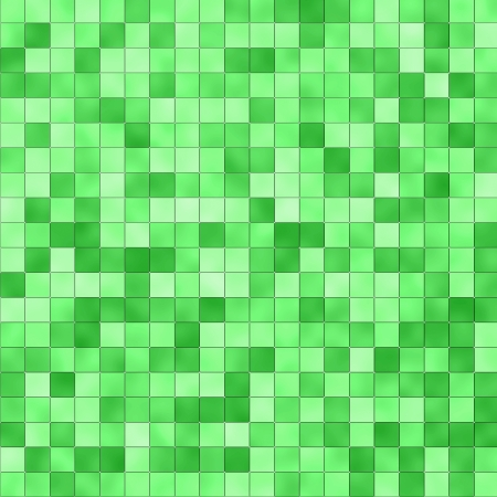 Seamless small tiles texture in different shades of green photo