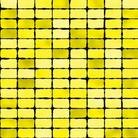 Yellow mosaic tile seamless pattern - background for Stock Photo
