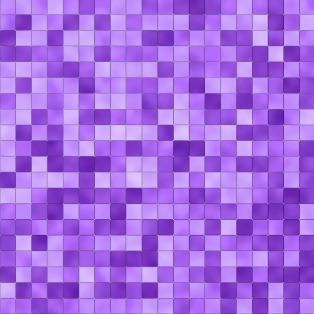 mosaic in shades of purple