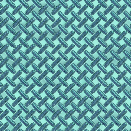 Background of a blue metallic floor with a pattern Stock Photo - 20943452