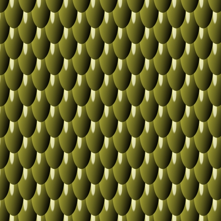 olive Squama Background with Fractal Pattern - seamless