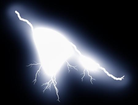 blitz symbol: Blitz in der Nacht