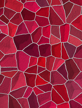 seamless cracked multi colored pattern in red and pink photo