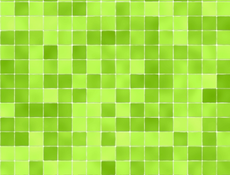 Green tiles wall covering photo