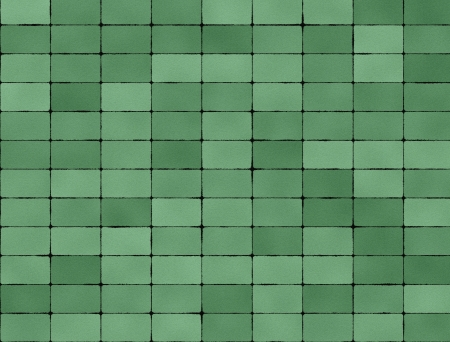 Seamless texture of green tiles photo