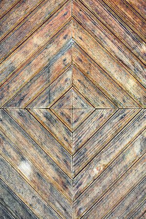 Texture of old stained wooden door Stock Photo