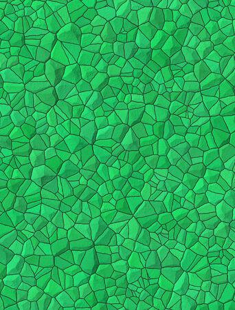 Green bricks abstract seamless pattern