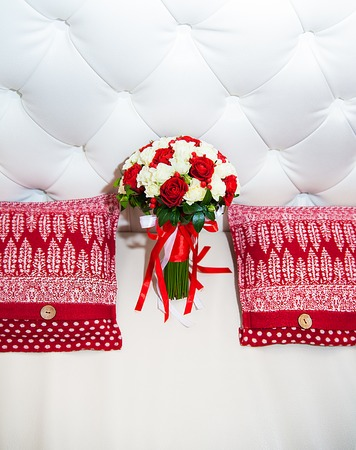 Beautiful wedding bouquet. A Traditional bride decoration