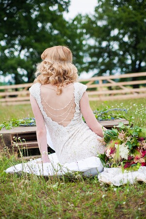 the image of wedding bride in white wedding dress