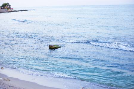 Very beautiful blue sea - summer, sun, Bulgaria Stock Photo