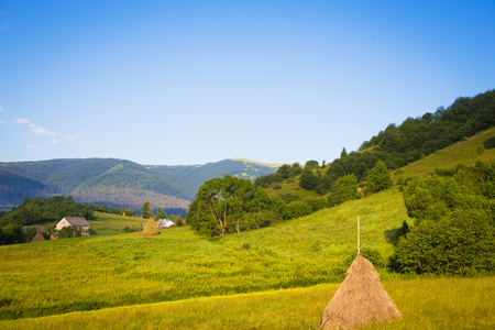 Beautiful views of the Carpathian Mountains in Ukraine.