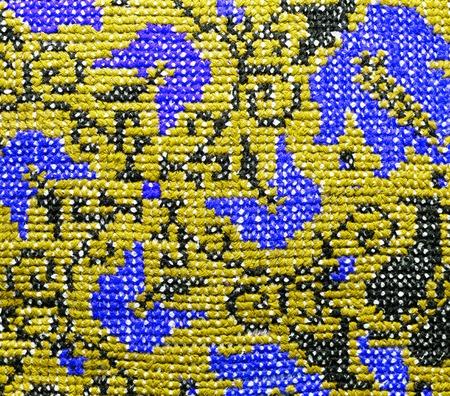 weaving, background texture of the fabric, handmade Stock Photo
