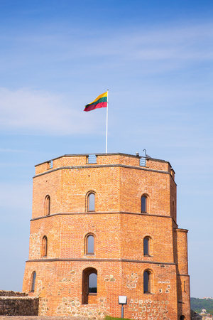 Tower Of Gediminas In Vilnius. Historic Symbol Of The City Of Vilnius And Of Lithuania Itself. Stock fotó