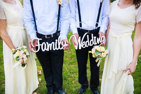 funny and beautiful witnesses to keep the wooden family letters and wedding