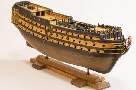 Victory - a copy of a real ship on a scale