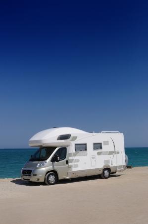 Camper van on the beach