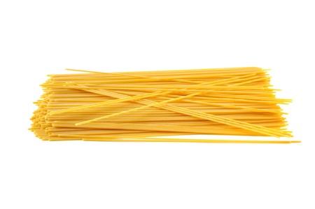 Špagety italské těstoviny izolovaných na bílém pozadí Reklamní fotografie