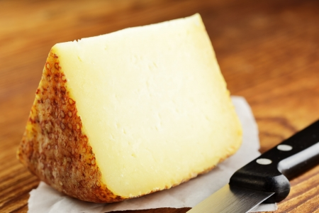 Pecorino, typical italian sheep cheese, selective focus Stock Photo