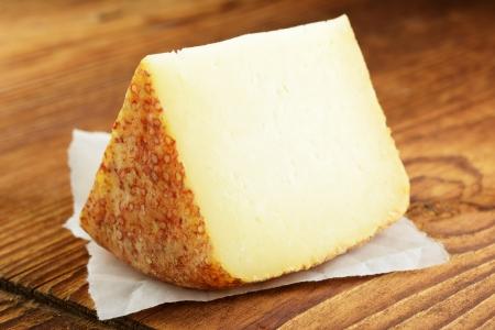 Pecorino, typical italian sheep cheese, selective focus Archivio Fotografico