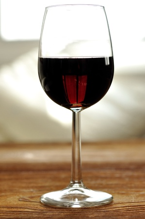 Glass of fine italian red wine, selective focus Stock Photo - 16675073