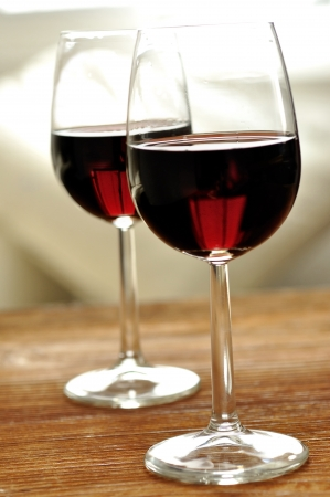 Glass of fine italian red wine, selective focus Stock Photo - 16675091