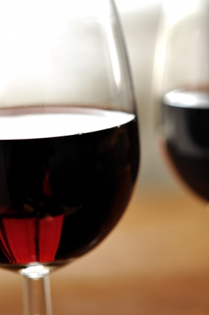 Glass of fine italian red wine, selective focus Stock Photo - 16675090