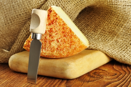 Pecorino, typical italian sheep cheese, selective focus Reklamní fotografie