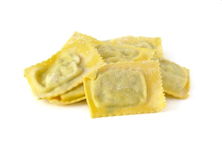 Ravioli filled with spinach and ricotta, italian egg pasta Stock Photo - 16759295