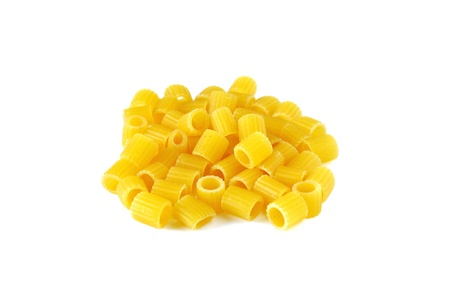 Ditalini, italian raw pasta, isolated on white Stock Photo - 16759285