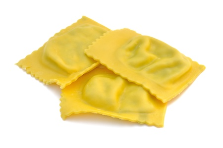 Ravioli filled with spinach and ricotta, italian egg pasta Stock Photo - 16759293