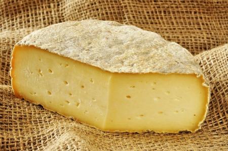Formaggella Bergamasca, typický měkký sýr, Bergamo, Itálie Reklamní fotografie