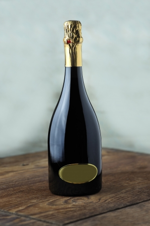 Bottle of fine italian spumante wine photo