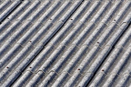 Azbest střecha pozadí