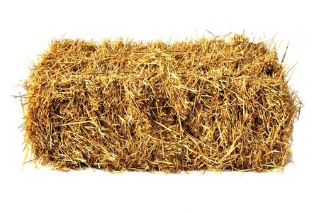 Hay Bale izolovaných na bílém Reklamní fotografie