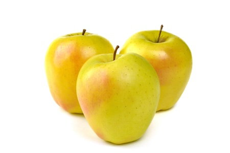 Golden delicious jablko, typické Trentino Alto Adige, Itálie