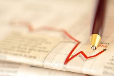 Výkonnost akciového trhu na finanční noviny, selektivní zaměření