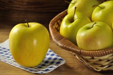 Golden delicious apple, typical of Trentino Alto Adige, Italy