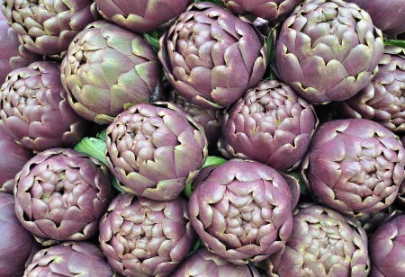 Artichokes of Roma, food background