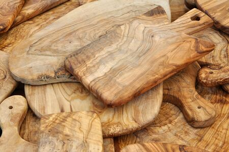 Chopping boards in olive wood Stock Photo - 17356842