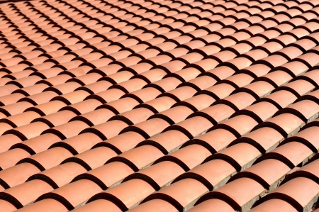 Roof tiles background, closeup photo