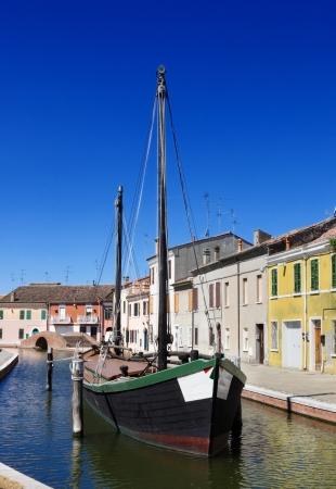 Pohled na Comacchio, Ferrara, Emilia Romagna, Itálie Reklamní fotografie