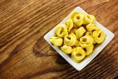 Tortellini, čerstvé vaječné těstoviny, italská jídla