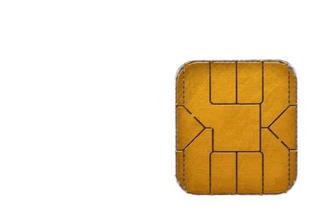 Chip card, closeup Reklamní fotografie