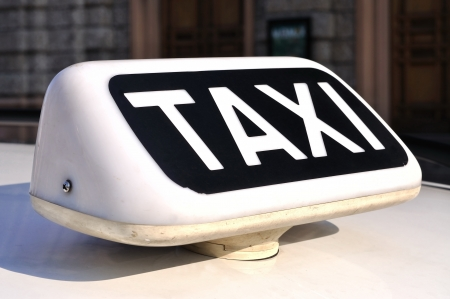 Italian taxi sign, closeup