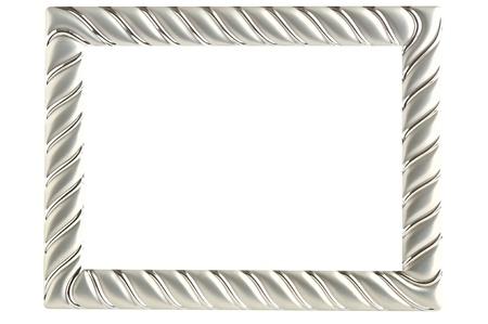 Kovový fotografické rám izolovaných na bílém pozadí
