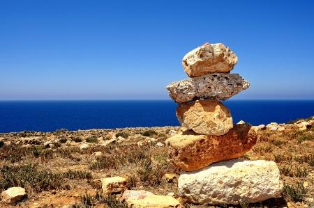 Pohled na pláž Cala Domestica, město Buggerru, Sardinie, Itálie