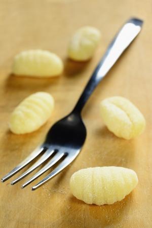 Domácí syrové gnocchi, italština čerstvé těstoviny, selektivní zaměření Reklamní fotografie