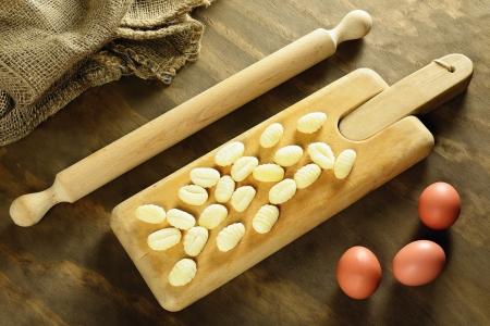 Domácí syrové gnocchi, italština čerstvé těstoviny